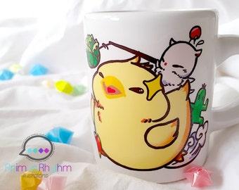 Mini Ceramic Mug: Fat Chocobo Final Fantasy Moogle game