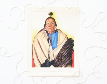 Vintage Native American Litho Print by Winold Reiss - Big Face Chief