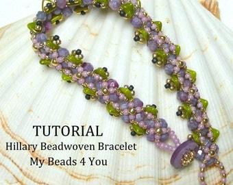 PDF Beading Pattern,Tutorials, Beadwork Bracelet Pattern, Beadweaving Tutorial,Pattern,Seed Bead Tutorial,PDF Schemi, Beading Instructions