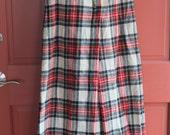 SALE Tartan Plaid Pants Wide Leg Bell Bottom Gauchos Size 10 Bloomingdales