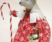 Christmas Mouse - Made To Order, Winter Holiday Mice Decorations