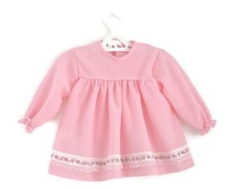 Baby Dress, Vintage Baby Dress, Pink Baby Dress, Retro Baby Dress