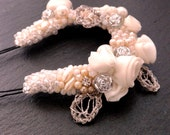 bridal hair pin accessories beaded clip flower wedding cristal headpiece hair jewelry bobby pin