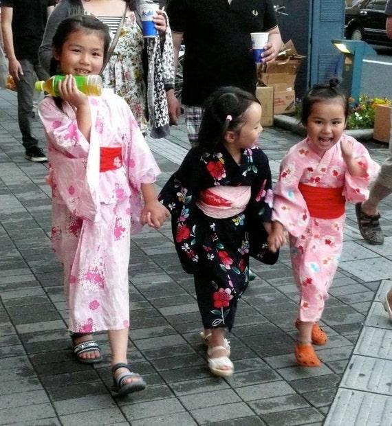 japanese yukata kimono for 4 5 year old girl girls walloween