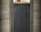 Primitive Handpainted Folk Art Chalkboard