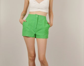 80's Green High Waist Shorts
