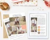 Fall Newsletter Template for Photographers, Fall Photography Marketing Template, Photography Templates, Photography Advertisement - NWS109
