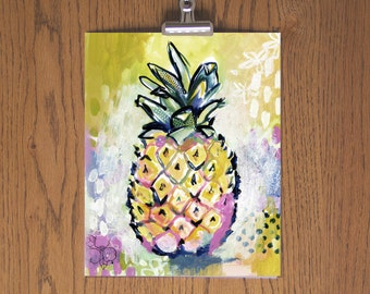 Pineapple - Day 67 Art Print