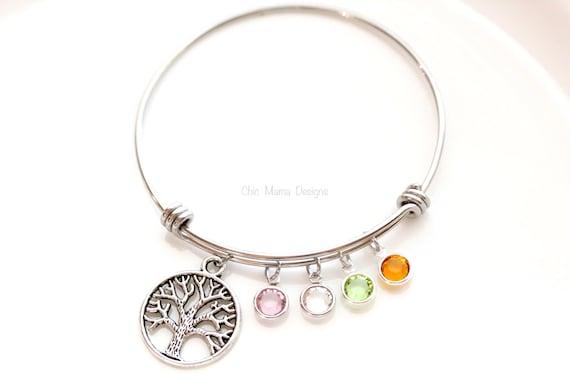 family tree bracelet charm bracelet bangle bracelet