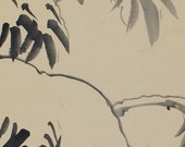 Japanese Fine Art Wall Hanging Scroll Painting Bird and Flower Sparrows in Snow Kakejiku – 1506076