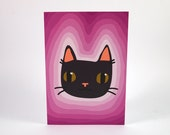 Black cat greetings card -  Birthday Card - Cat Birthday Card - I like Cats - Cats - Birthday - Cat Card - greetings card - thank you card