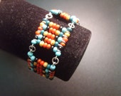 Cherokee Inspired Beaded and Wire Bracelet by MICH RICH (Cherokee Collection)