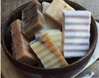 Soap Pieces - Miscellaneous little soaps, odds and ends, Handmade soap, Cold Process, All Natural soap, vegan soap, travel soap
