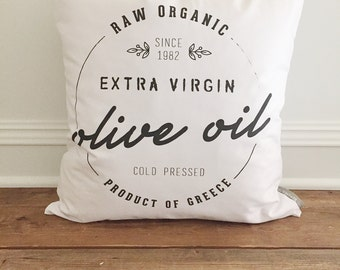Olive Oil Pillow Cover
