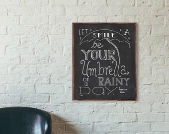 Rainy Day Print, Happiness Quote, Smile Quote, Happy Quote, Choose Joy Print, Inspiring Print