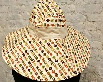 60s Mila Schön Logo Beach Hat - Rare Italian Mod Piece