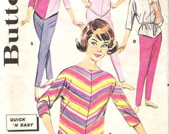 Vintage 1960's Butterick 9805 Quick 'N Easy Coordinates Sewing Pattern Size 12 Bust 32""