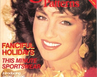 Vintage 1981 VOGUE Patterns Magazine November December 1981 Fanciful Holidays, Sportswear, Sweaters, Evening Wear, Maternity and More