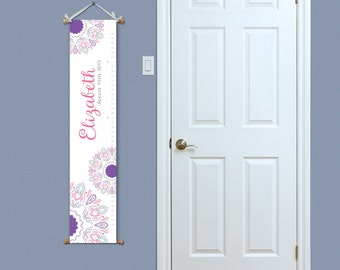 Girls Growth Chart - Decorative Growth Chart - Girl's Growth Chart - New Baby Gift - Nursery Art - Personalized Growth Chart - Mandalins