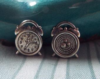 5 Pieces Alarm Clock Charms, Tibetan Silver Charms, Jewelry Charms, Jewelry Making, Jewelry Supplies - C97415