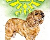 9x12 Original Custom Watercolour Pet Portrait