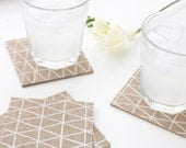 Decorative Coasters for Drinks - Contemporary Tea Coasters - Modern Beverage Coasters