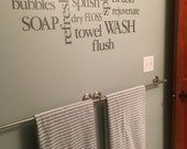 Wall Decal Bathroom decor Sign - Bathroom Subway Art - Bathroom collage
