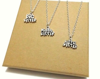 Sister Jewellery, Sister Necklace Set, Gift for Sisters, Sisters Jewelry, Personalised Sister Gifts, Sisters Jewellery, Sister Gift