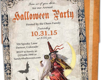 Halloween invitation printable. Halloween costume party invitation. Printable halloween invite. custom  party printable or printed
