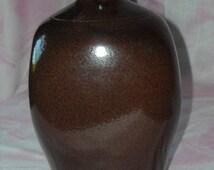 """Vintage Ethan Allan Salt Glazed Redware Decorative Vase, 10"""""""