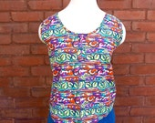 80s Funky Geometric Abstract Cotton Tank