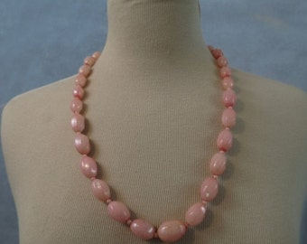 Necklace of Pink Beads - 1950s