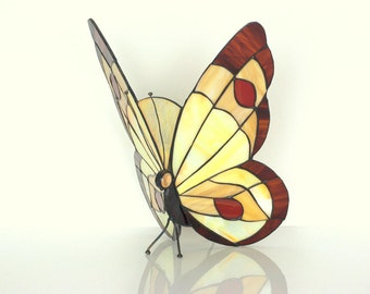 """12"""" Tiffany Style Butterfly Sconce Lamp. Stained glass wall sconce. Stained glass hanging butterfly lamp. Wall sconce light. Table lamp"""