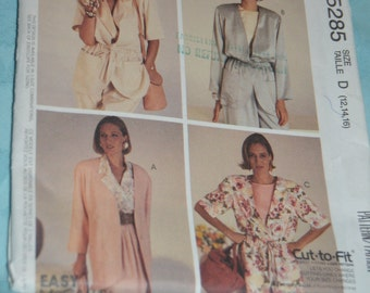 McCalls 5285 MIsses Lined and Unlined Jackets Sewing Pattern  Size 12 14 16  - UNCUT