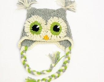 Baby Owl Hat, Photo Props, Baby Boy Hat, Baby Girl Hat, Baby Shower Gift, Crochet Owl Hat, Baby Outfit, Cute Baby Hat, Baby Bird Hat,