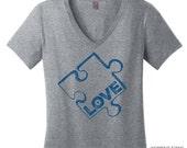 V Neck Tee Autism Awareness Shirt Tee Womens Teacher Shirts Womens Shirt Special Education Shirt Teacher Gift for Teachers T Shirt Women