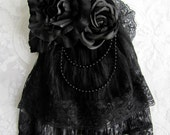 Gothic Lolita Headpiece - Black