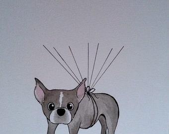 Custom Pet & Balloon Thumbprint Art for Nursery, 11x14
