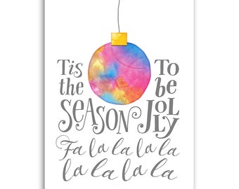 Christmas Card Template for Photographers - MERRY & BRIGHT - JOLLY - 1451