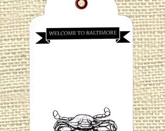 Baltimore Gift Tags with bakers twine