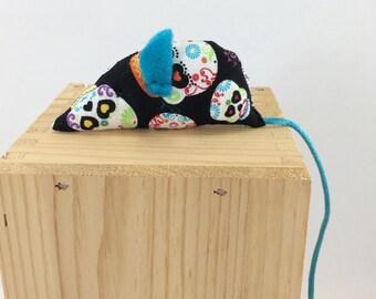 Sugarskull cat toy, sugar skull organic catnip toy, cat toy