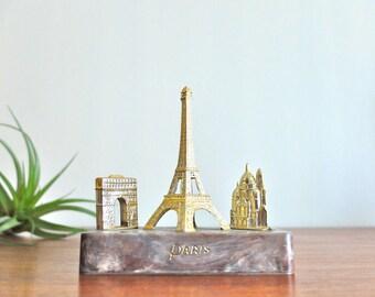 French vintage Paris souvenir / memorabilia 3 monuments: Eiffel Tower, Sacré Coeur, Arc de Triumph
