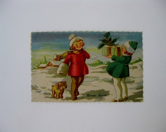 New Years Vintage Post Card - Bonne Annee or Happy New Year - Bruxelles - Used - 1913