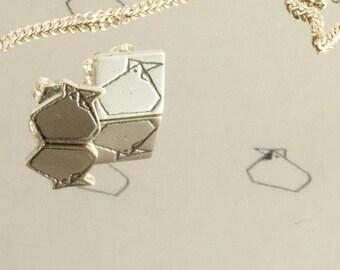 Asymmetrical earrings studs maman poule et petit poulet P'tit mec p'tite nana, engraved metal, Polished sterling silver Hand cut, jewelry