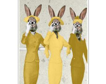 Rabbit Print, Rabbit Art Print, Rabbit Bunny Print, Rabbit Art, Bunny Print, Rabbit Wall Art, Wall Decor, Holiday gift, Christmas gift