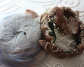 Fun, Fabulous, Flirty Feathers--- Two Vintage Feather Headbands