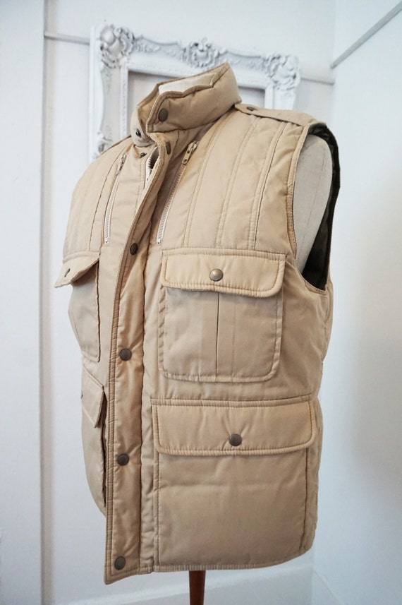 Field and stream vintage insulated down hunting fishing vest for Field and stream fishing shirts