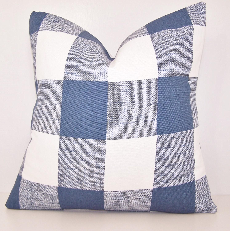 Buffalo Check Pillow Cover Toss Pillow Navy By