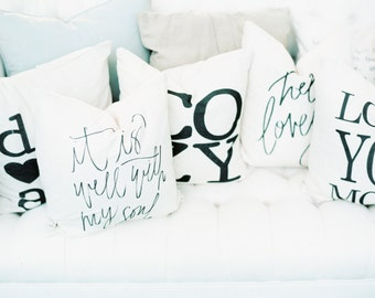Pillow Cover SET - You Choose How Many, present, throw cushion, housewarming gift