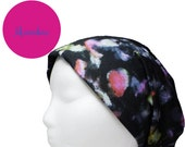 Macabre - Soft Knit Bandeanie - Versatile Convertible Multi-Function Slouchy Headband Headwrap for Yoga ~ Runner ~ Hippie ~ Boho ~ Sports